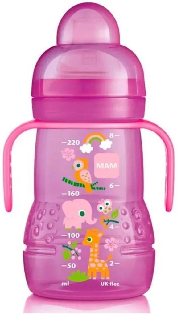 Copo de Transição Trainer Girls 220 Ml Bichos Rosa -MAM Baby