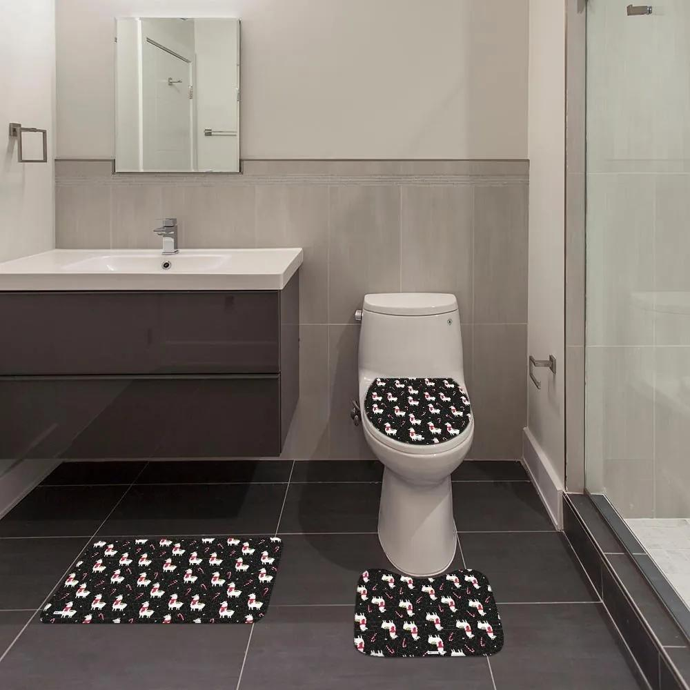 Jogo de Banheiro Natal Lhama PretoÚnico