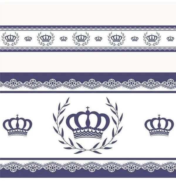Faixa Adesiva de Parede Majestade Azul 3m Grão de