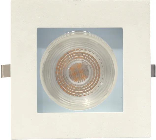 Plafon Embutir Aluminio Branco Azul 10,5cm