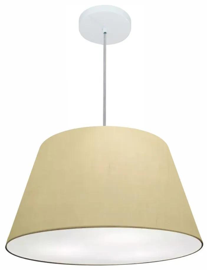 Lustre Pendente Cone Md-4248 Cúpula em Tecido 30/50x35cm Algodão Crú - Bivolt