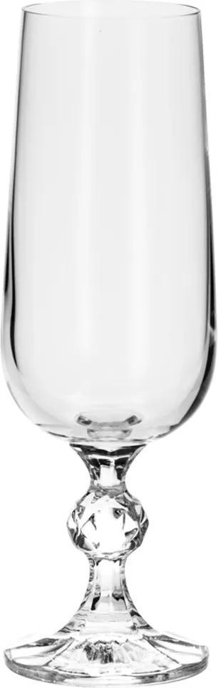 Conjunto 6 Taças de Cristal Ecológico Para Champanhe – Linha Klaudie/Sterna 180ml