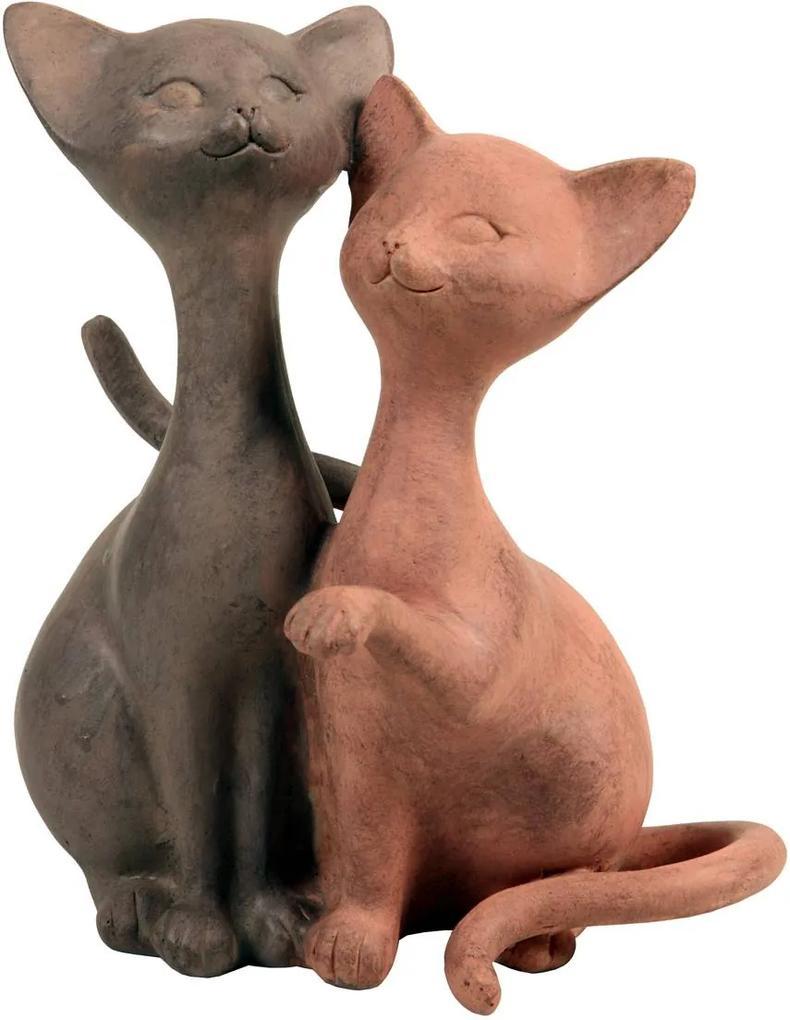 Estatueta Casal de Gatos