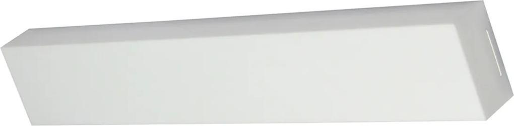 Plafon Led Sobrepor Branco Retangular 54w Luz Branca