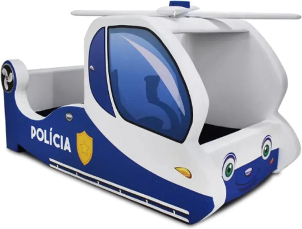 Cama Cama Carro Infantil Helicóptero Branco