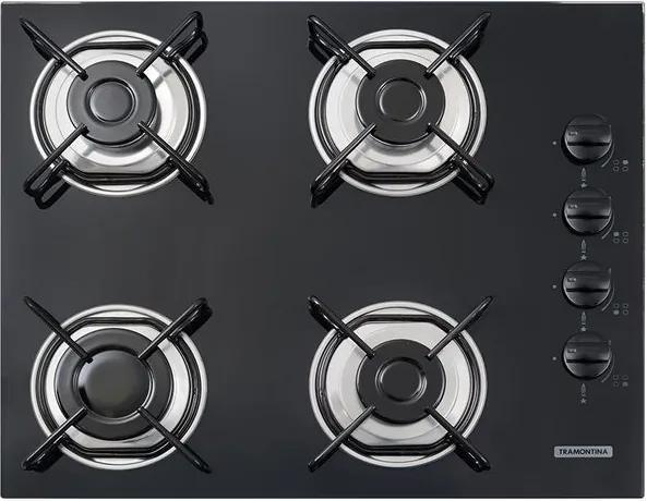 Cooktop a Gás Glass Brasil 4 Queimadores 55cm - 94703/501 - Tramontina - Tramontina