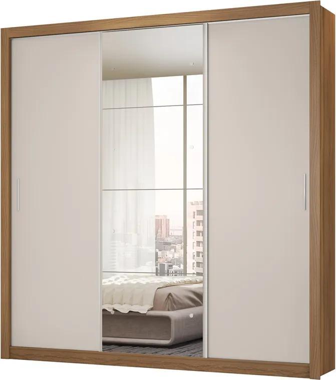 Guarda-roupa Casal 3 Portas Residence II 32250 Amendola/Off White - DEMÓBILE