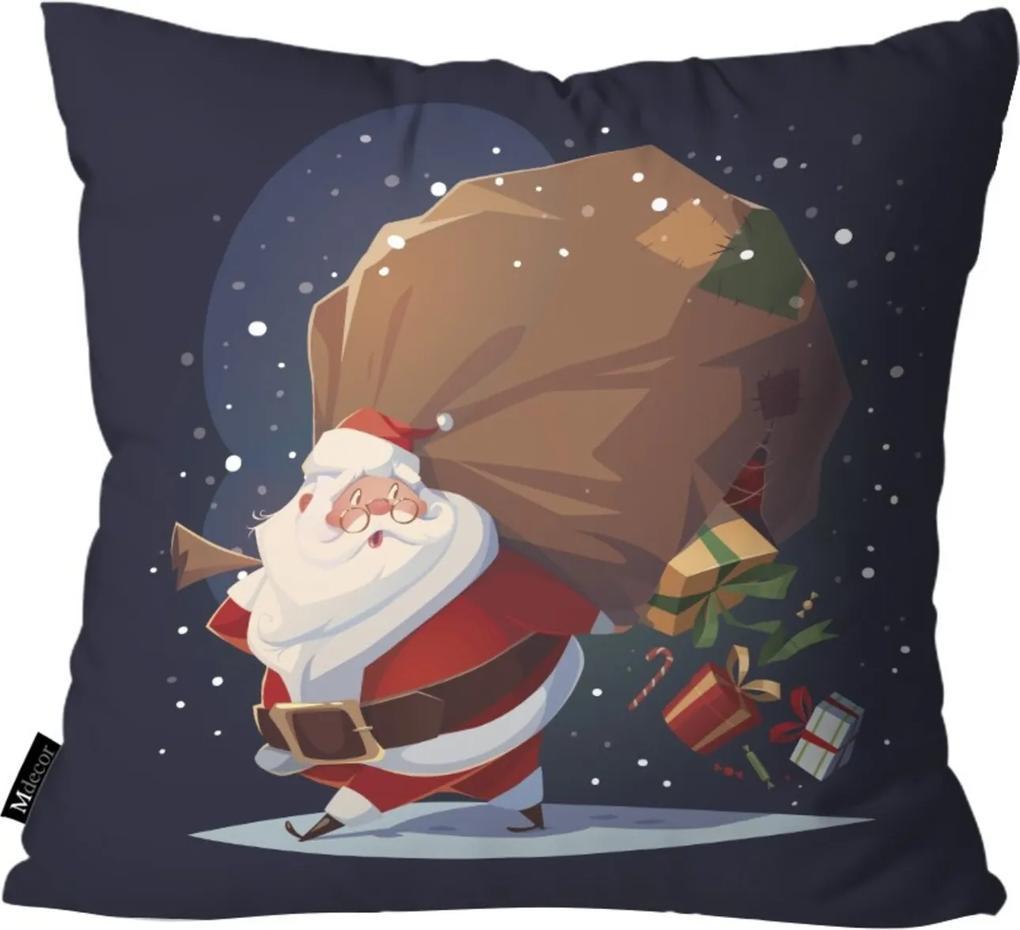 Capa para Almofada Mdecore Papai Noel Marinho 55x55