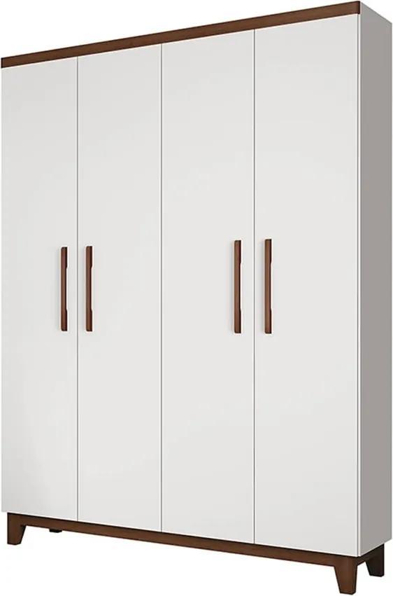 Guarda-roupa Conforto C/ 4 Portas Branco / Hannover