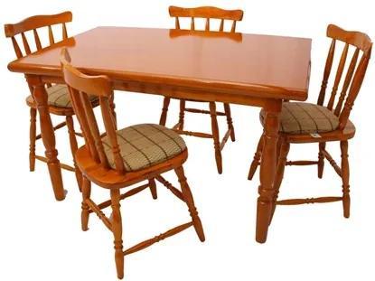 Jogo de Mesa com 4 Cadeiras Daiana Mel - Piratini