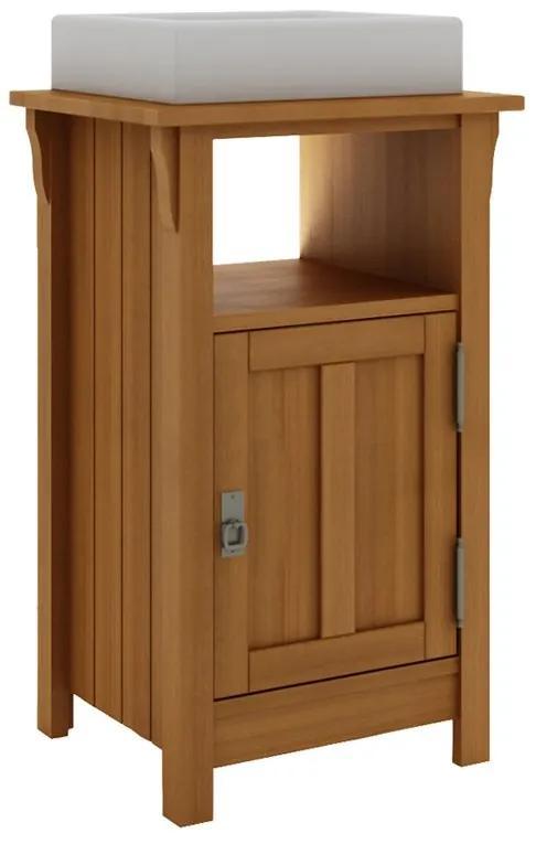 Balcão para Banheiro Mission com Porta e Nicho Jatobá (Cuba não acompanha o produto)- Wood Prime MR 34669