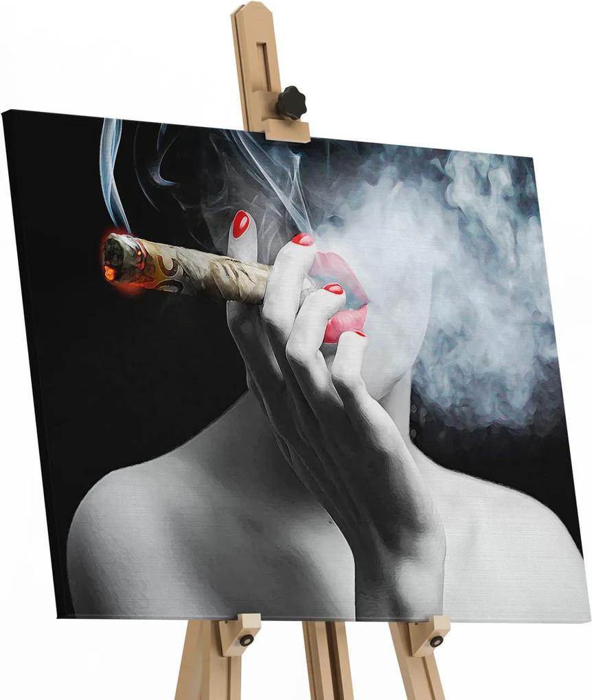 Quadro 50 Notas de Fumaça ao Som de Marilyn Monroe