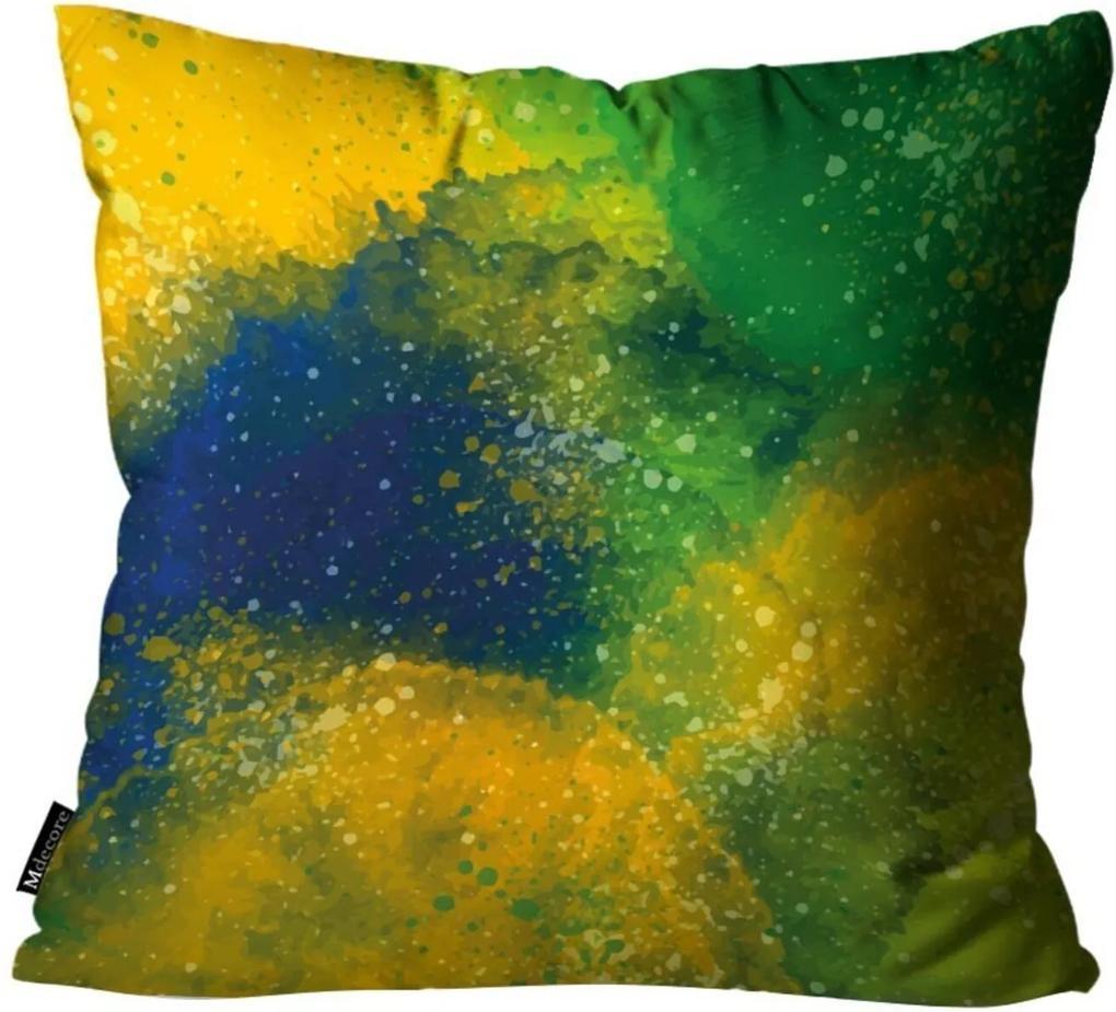 Almofada Mdecore Abstrato Brasil Colorida 45x45cm