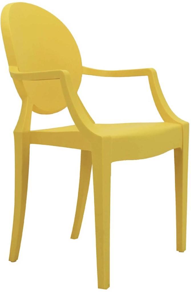 Cadeira Sofia Infantil Pp Amarelo Rivatti