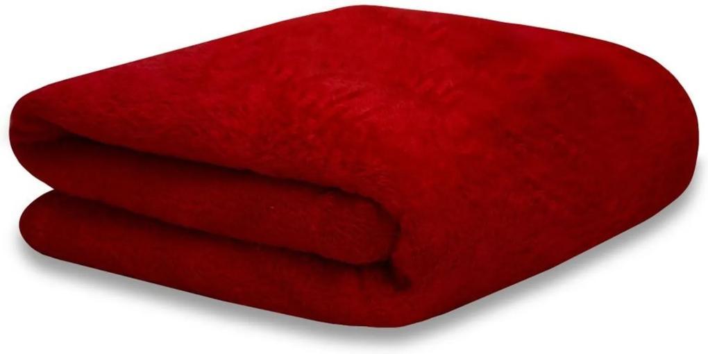 Mantinha Soft Fleece Premium 2,00m x 1,80m Vermelho