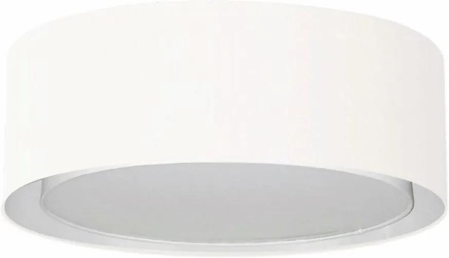 Plafon Duplo Cilíndrico Md-3037 Cúpula em Tecido 60x25cm Branco - Bivolt