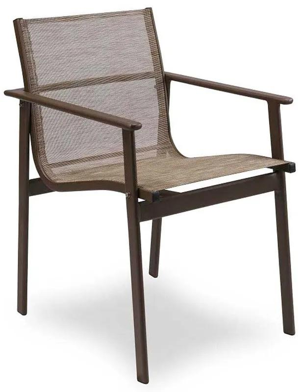 Cadeira San Diego Área Externa Tela Sintética Estrutura Alumínio Eco Friendly Design Scaburi