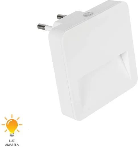 Luz Noturna Quadrada Facho 5W Bivolt Branco Quente 3000K - 54053004 - Blumenau - Blumenau