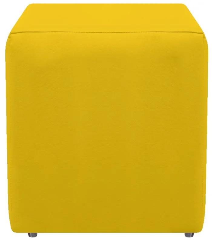 Puff Decorativo Dado Corano Amarelo - ADJ DECOR