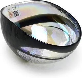 Bowl de Murano Transparente Espiral Preta Yalos