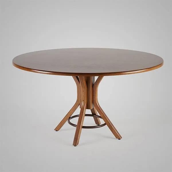 Mesa de Jantar Carpenter Redonda Madeira Maciça Linha Carpenter Design by Studio Artesian