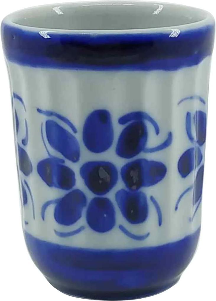 Copo Americano de Porcelana Azul Colonial 180 ml