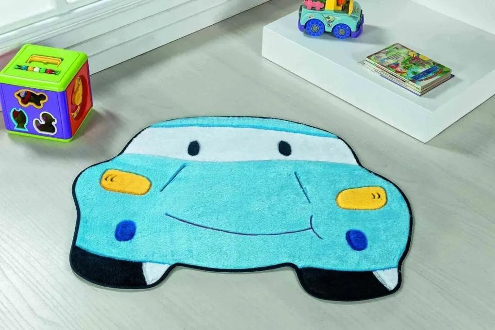 Tapete Guga Tapetes De Pelúcia Carro Azul Turquesa
