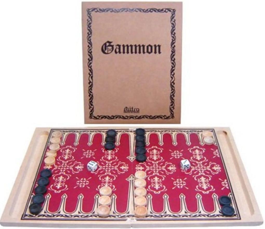 Jogo de Tabuleiro Mitra Gammon Multicolorido