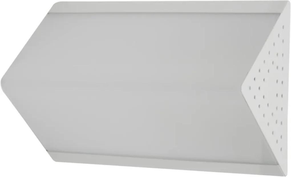 Arandela Plafon Acrilico Branco Jateado 20x13cm