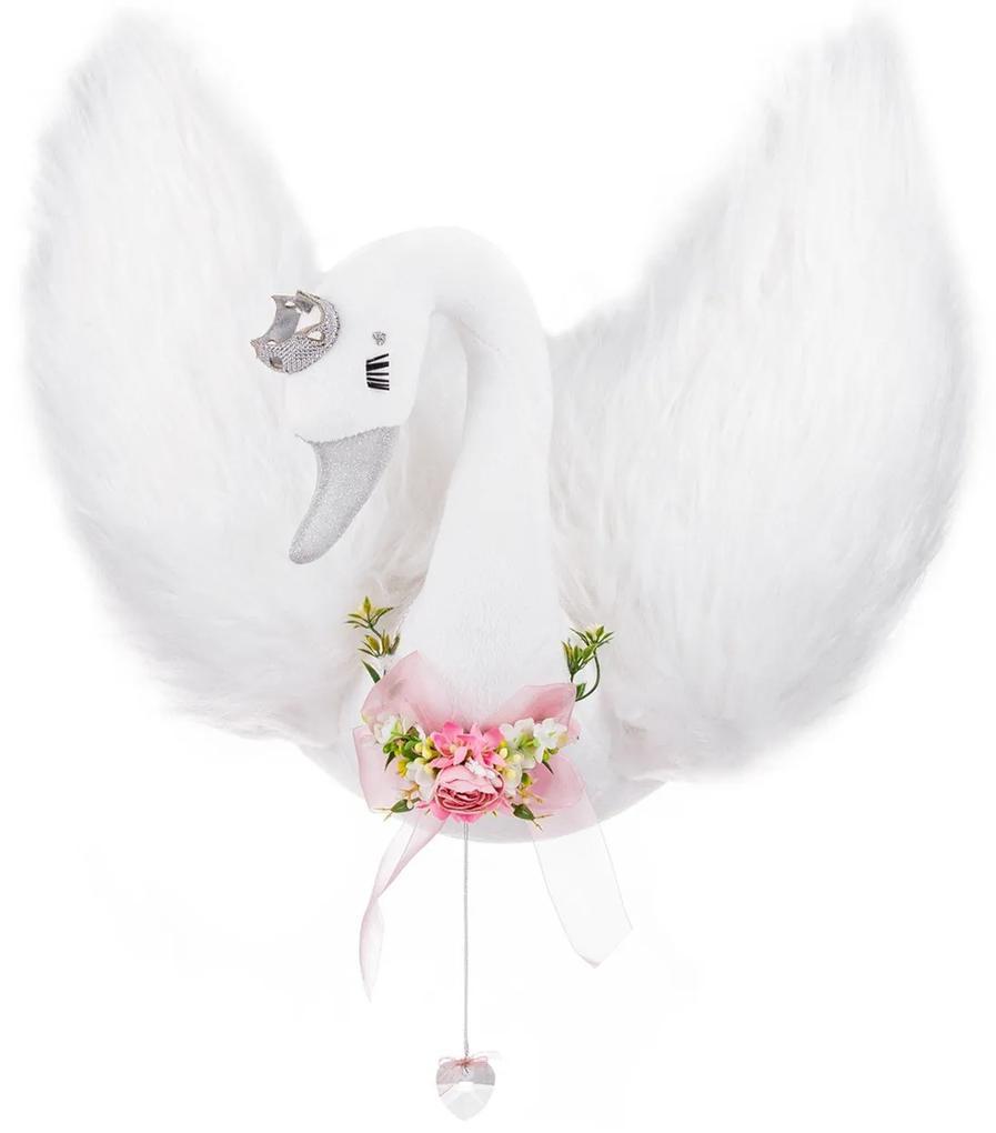 Cabeça de Cisne para Decoração de Parede - Branco