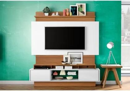 Estante Home Theather para TV TB112 Off White/Freijó - Dalla Costa