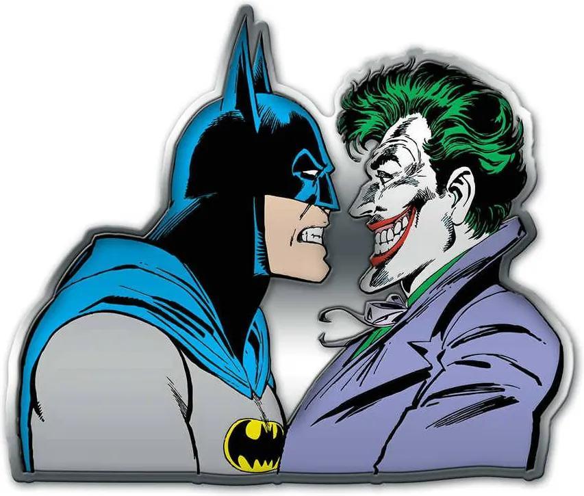 Placa de Parede DC Comics Batman And Joker Face to Face em Metal