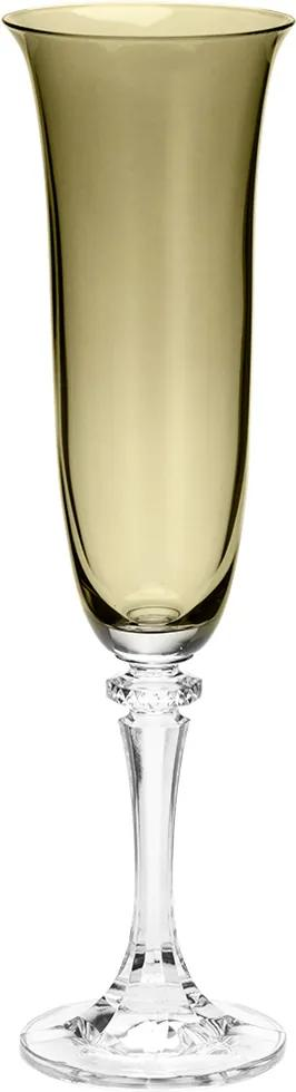 Conjunto 6 Taças de Cristal Ecológico P/Champanhe Kleopatra/Branta Kale 175ml