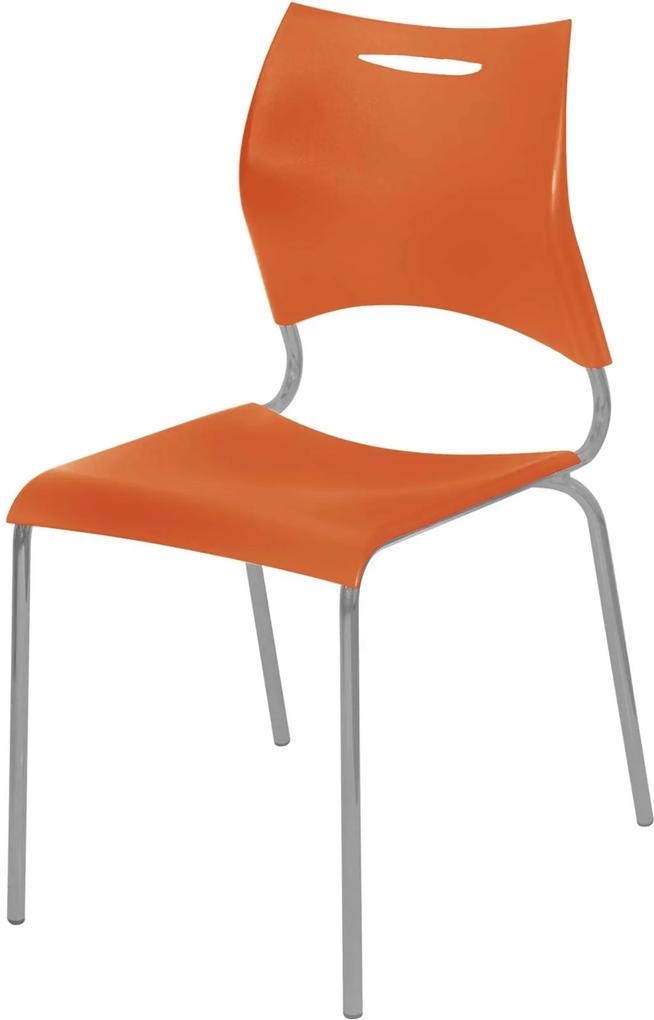 Cadeira Plástica New Laranja Giobel