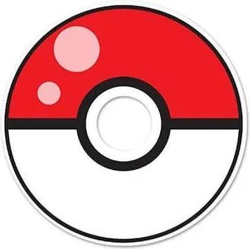 Adesivo de Olho Mágico Pokebola - Pokemon