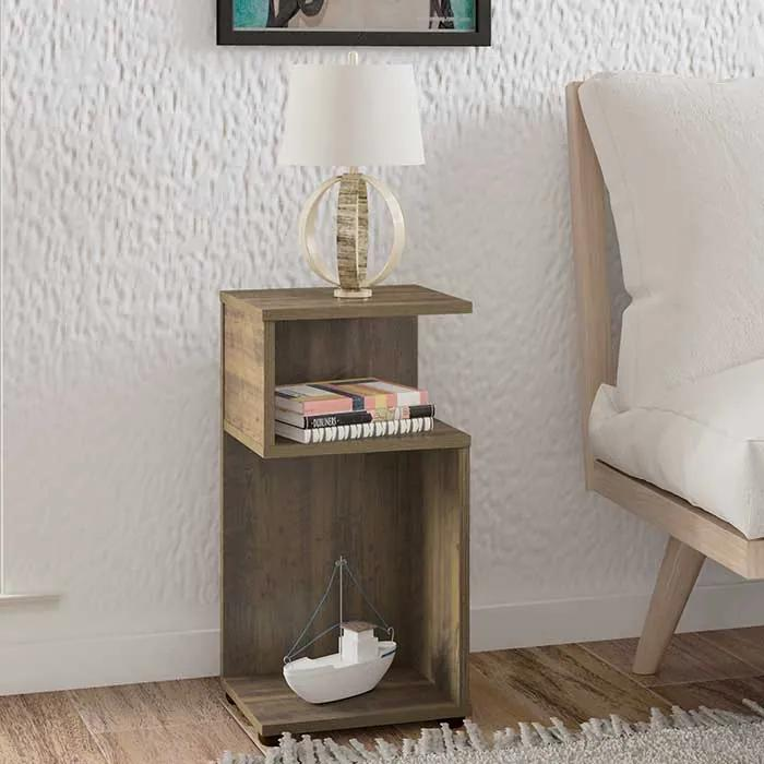 Mesa de Canto Compacta Alsdorf 30cm Pinho