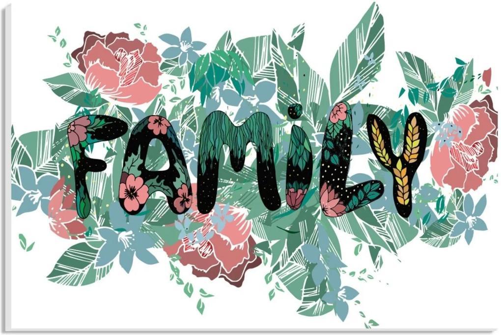Placa de Bancada Decorativa Family 20x30 cm