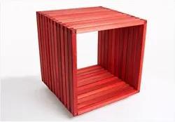 Módulo Dominoes com 45 x 45 Stain Vermelho - Mão & Formão