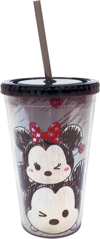 Copo Minas De Presentes Mickey & Minnie Tsum Tsum Preto