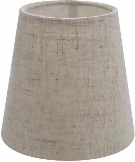 Cúpula em Tecido Cone Abajur Luminária Cp-2004 14/08x13cm Rustico Bege