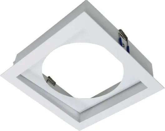 Plafon Embutir Aluminio Branco 15cm Flat