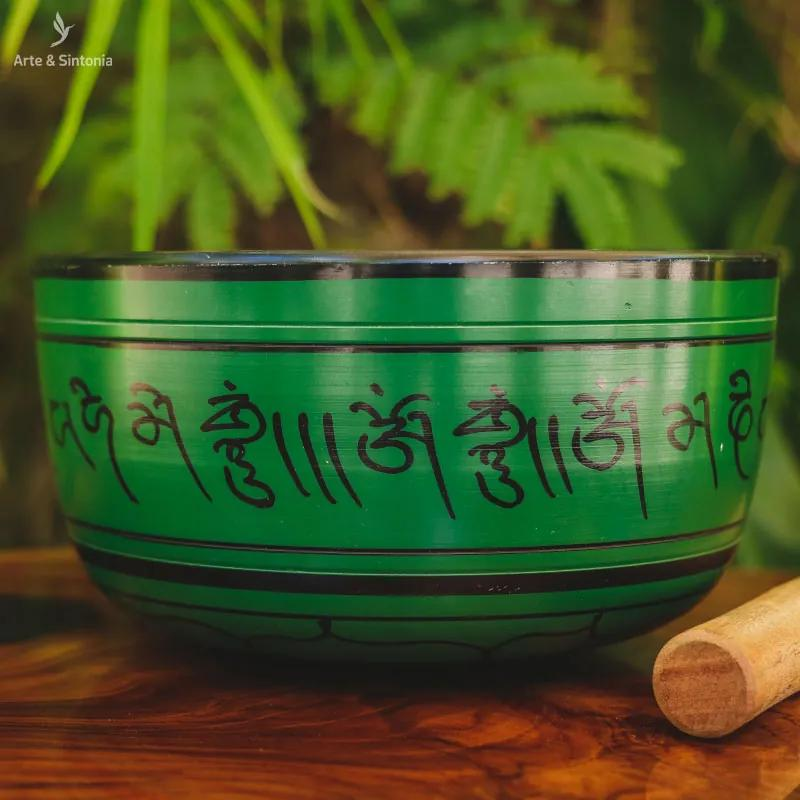Tigela Tibetana Lótus Verde