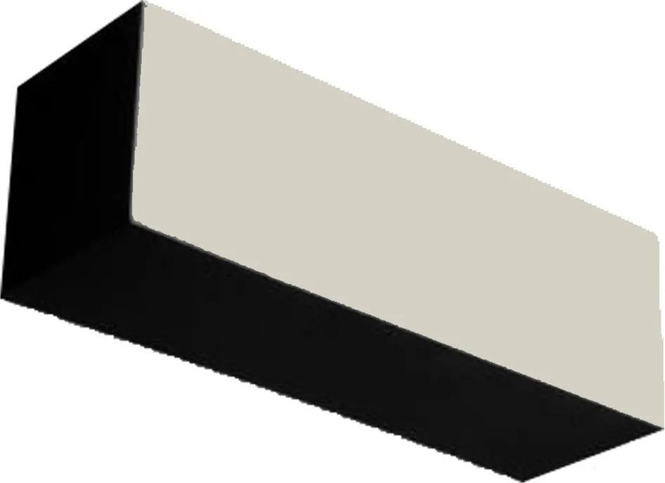 Arandela em Acrílico Leitoso e Preto 30x10cm 1X E27 - ADM - ADM389