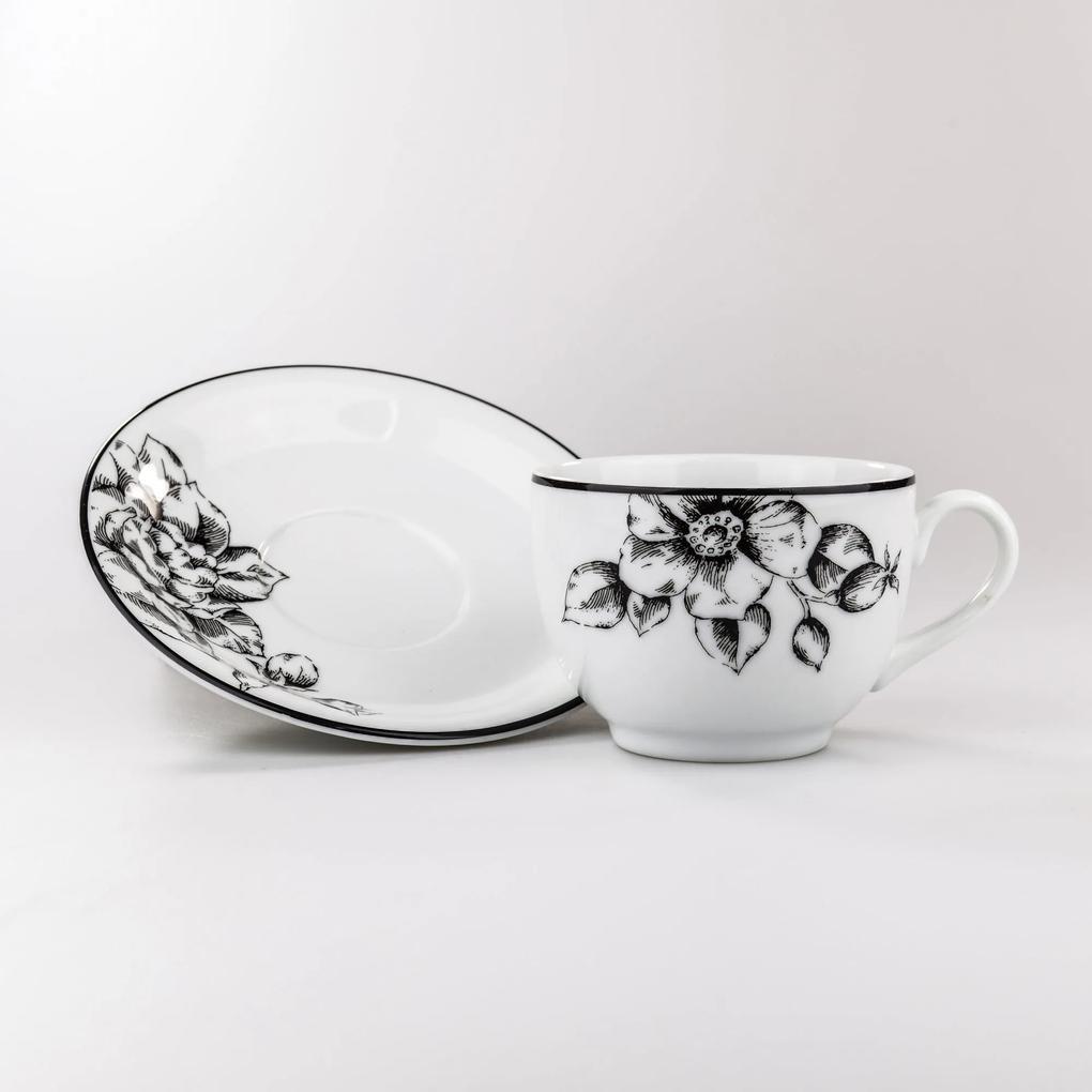 Xicara Chá c/ Pires Porcelana Schmidt - Dec. Laura 2° LINHA