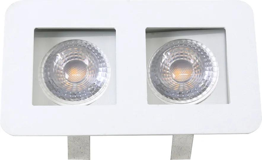 Plafon Led Embutir Aluminio Branco 8,5cm