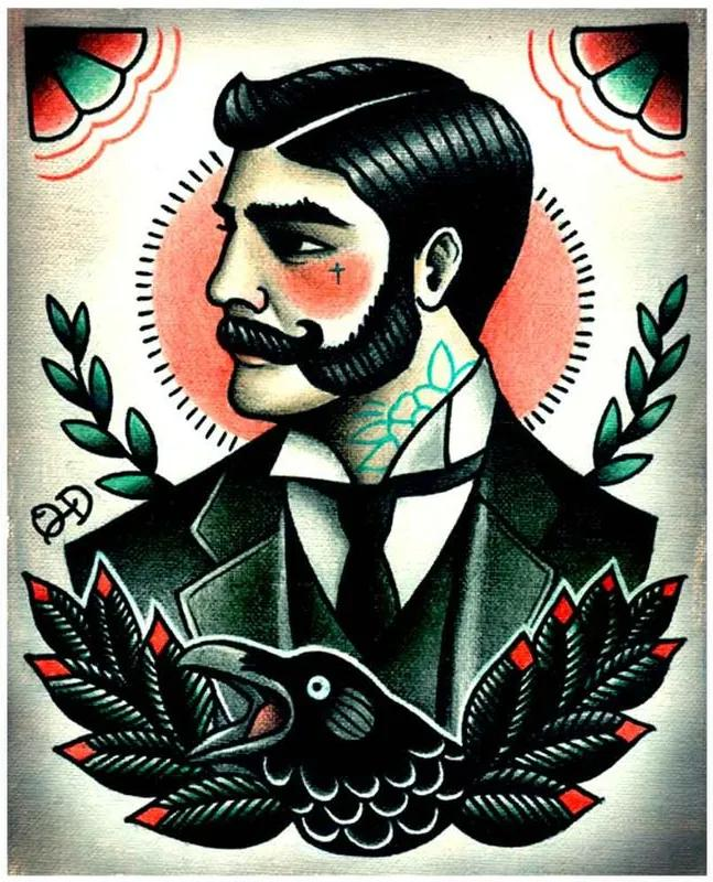 Placa Decorativa Para Barbearias Quyen Dihn victorian Gentleman