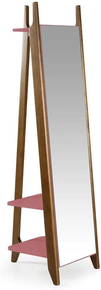 Espelho Stoka 169,5 cm 988 Nogal/Rosa New - Maxima