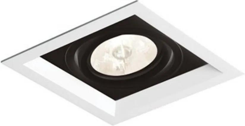 Plafon Embutir Aluminio Branco Preto 11,7cm