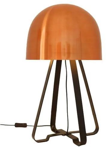 Luminaria de Mesa Toddy Cupula Cobre Base Preto Fosco 55 cm (ALT) - 50025 Sun House