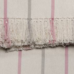 Manta para Sofá Romantic Listras de 1,40 x 1,40 m Rosa Romantico